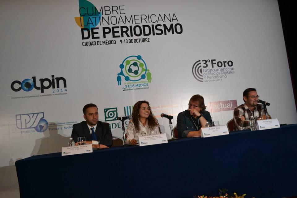 Mesa de Derechos Humanos con Leonencio Nossa, Daniel Enz, César Batiz y Ginna Morelo.